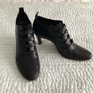Giorgio Armani black booties size 8